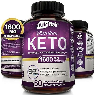 $17.99 • Buy ☀ Best Keto Diet Pills 1600mg With MCT Oil Powder- Advanced Weight Loss Capsules
