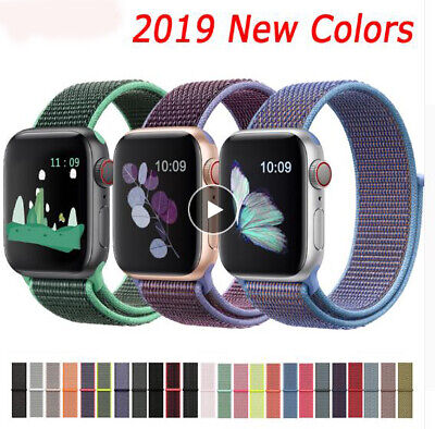 AU10.89 • Buy Band For Apple Watch Series 5/4/3/2/1 38/42MM Nylon Soft Breathable Replacement