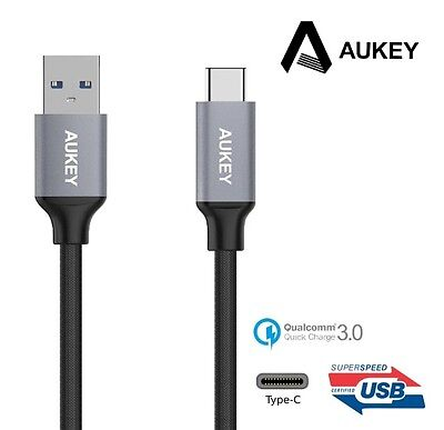 AU21.87 • Buy New Aukey CB-CD2 USB 3.0 Type C Male To Type A Male Cable ( Nylon, Sync Data )