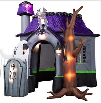 $ CDN964.33 • Buy 10ft NewStyle Halloween Inflatable Haunted House With Led Lights Decoration T