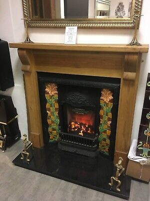 £1099 • Buy Complete Victorian Style Cast Iron Fireplace With Tiles - EX-DISPLAY BARGAIN