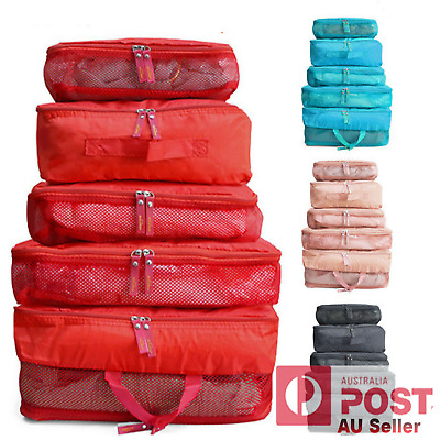 AU9.42 • Buy 5Pc Packing Cube Pouch Travel Bags Clothes Storage Suitcase Luggage Organiser AU