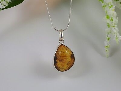 £15 • Buy Mexican Amber 925 Silver Mounted Pendant. NO CHAIN