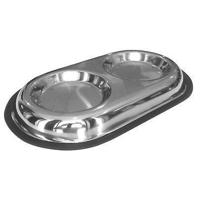 £7.95 • Buy Shallow Twin Pet Feeding Bowl Cat/Kitten Puppy/Small Dog Food Water Double Dish