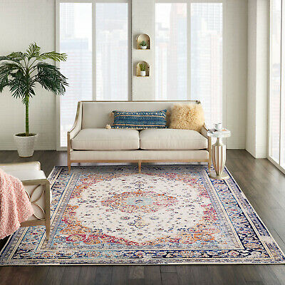 AU79.99 • Buy Large Rug Runner Rust Red Navy Blue Distressed Traditional Persian Carpet 5 Size