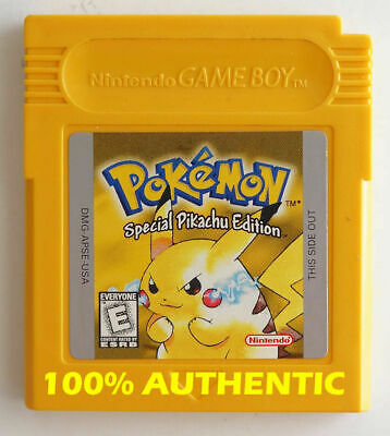 $70 • Buy ORIGINAL Pokemon Yellow Version New Battery Can Save AUTHENTIC Game Boy Color