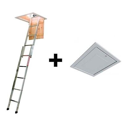 Manthorpe GL250 Loft Hatch / Door AND Youngmans 2 Section Loft Ladder Spacemaker • 88.55£