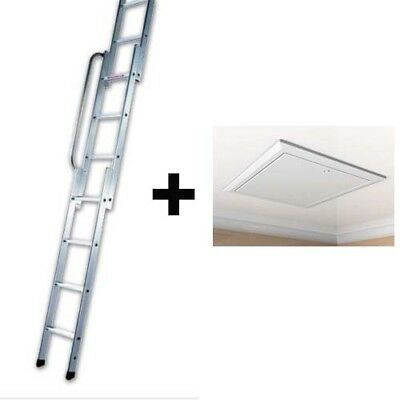 Timloc 1169 Loft Hatch / Door AND Youngmans 3 Section Loft Ladder EASIWAY • 99.89£