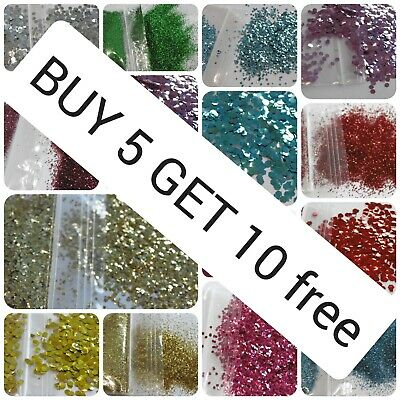 Biodegradable Glitter Cosmetic Bio Eco Chunky L@@k BUY 5 GET 10 FREE 2g Bag • 1.79£