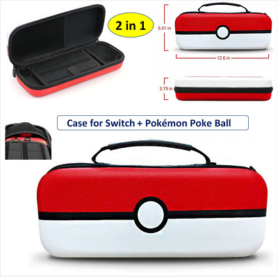 Hard Protective Carry Case(2 IN 1)For Nintendo SWITCH Console & Pokemon Pokeball • 12.99£