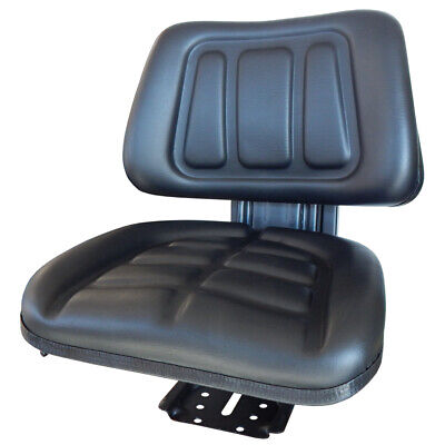 AU132 • Buy T222 Tractor Suspension Seat With Base Black Universal Fit 120kg Max