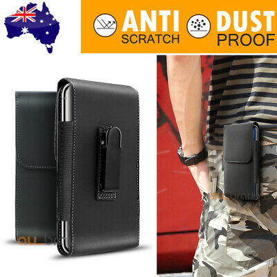 AU8.39 • Buy For IPhone 11 Pro Max Samsung Note 20 Leather Case Holster Pouch With Belt Clip