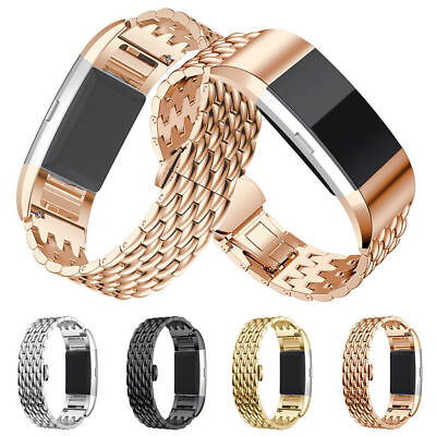 AU7.99 • Buy For Fitbit Charge 2 Band Watch Wrist Strap Stainless Steel Replacement Bracelet