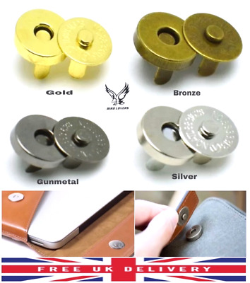 18mm Magnetic Button Snap Fasteners  Closures Craft Purse Hat Bag Various Qnt • 2.39£