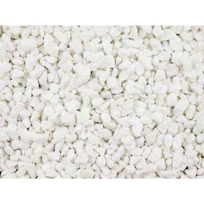 £15.99 • Buy 25KG BAG Decorative Aggregate  POLAR WHITE MARBLE CHIPPINGS 10mm