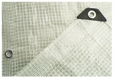 £8.73 • Buy Clear,mesh Reinforced Tarpaulin/ground Sheet,all Sizes,optional Accessories