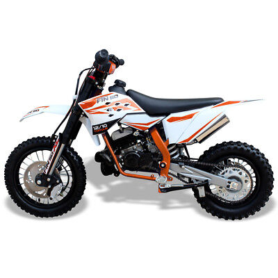 Dirt Bike 50cc-12/10 Wheels, 2 Stroke. Kick Start, Hydraulic Brakes/Forks-ORANGE • 679.99£