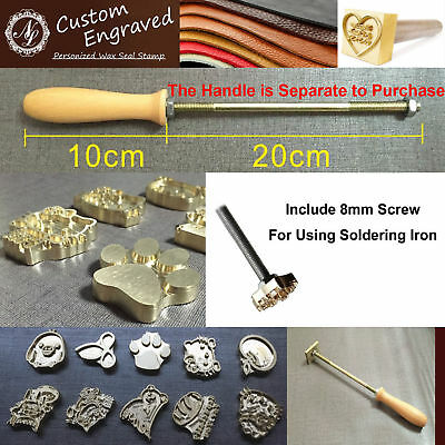 Custom Made Your Design Logo Branding Iron Wood Leather Stamp Torch Heated O 1699