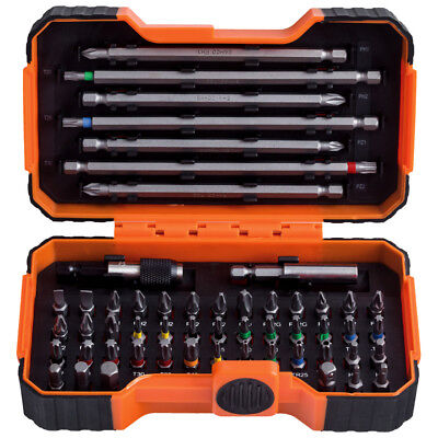 BAHCO 54 Piece Pozi,Phillips,Hex,Tx,Screwdriver Bits & Magnetic Holder, 59/S54BC • 15.94£