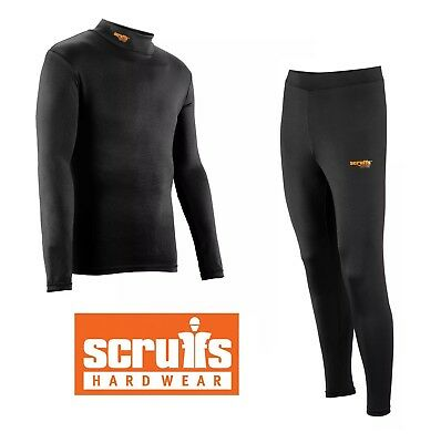 Scruffs Pro BASE LAYER THERMAL Top | Bottoms Baselayer Active Shirt / Trousers • 16.99£