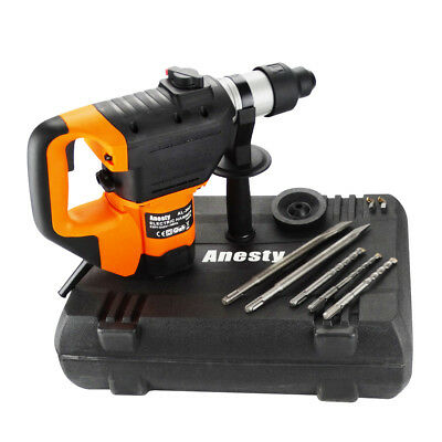 View Details Rotary Hammer Drill 1600W Impact Drill Concrete Breaker SDS Plus Bits Chisel Set • 59.90£