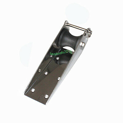"""12.9/"""" 316 STAINLESS STEEL BOAT MARINE HINGED SELF-LAUNCHING BOW ANCHOR ROLLER"""