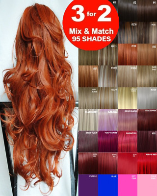 £6.35 • Buy Clip In Hair Extension Real Human Feel Plum Copper Brown Blonde Red Auburn Ash