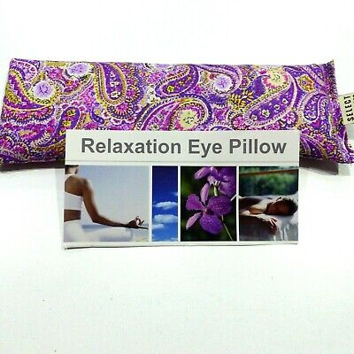 AU12.99 • Buy Cotton Eye Pillow Mask PAISLEY Linseed  Relaxation Lavender Chamomile Unscented
