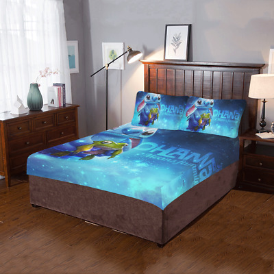 $59.99 • Buy Lilo And Stitch 3-Pieces Bed Set 2 Pillowcases And 1 Quilt Cover