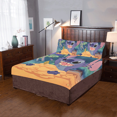 $59.99 • Buy Home Decor Lilo Stitch 3-Pieces Bedding Set 1 Quilt Cover And 2 Pillowcases