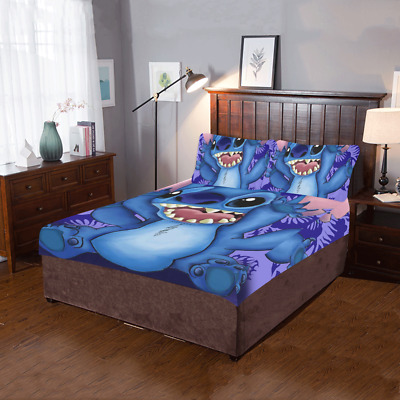 $59.99 • Buy Lilo Stitch 3-Pieces Bedding Set 1 Quilt Cover And 2 Pillowcases