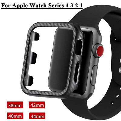 $ CDN2.49 • Buy For Apple Watch Series 4 3 2 1 Carbon Fiber Protector Case Cover 38/42/40/44mm J