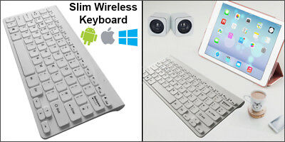 Slim Wireless 78 Key Compact Thin Keyboard For IMac IPad Android Phone Tablet PC • 9.90£