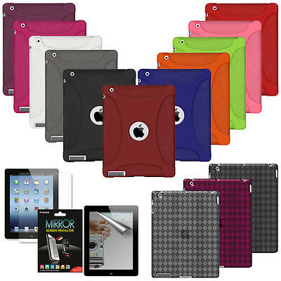 AMZER Silicone Jelly Skin Cover For Apple IPad 2 3 4 New Retina TPU Case Luxe UK • 8.99£
