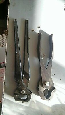 Vintage 12  Heller Brothers Nippers/Horseshoe Pliers/Blacksmith Tool  AND OTHER • 46$