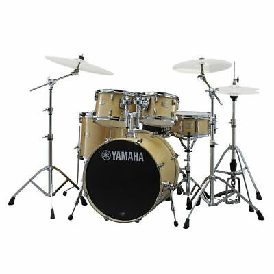 Drum Kit Yamaha Stage Custom 22  5 Piece Shell Drums W/ Hardware, Natural Wood • 1,026.95£