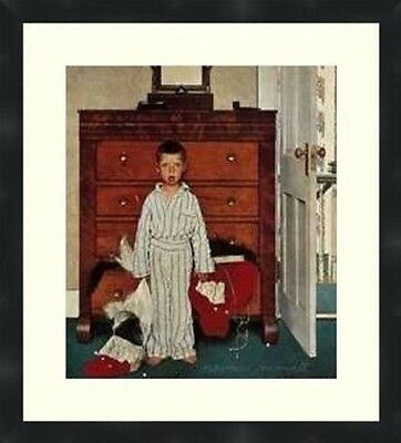 $ CDN61.34 • Buy Norman Rockwell Bottom Drawer Vintage Prints Matted And Framed16X20 Christmas