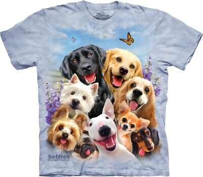 £24.99 • Buy The Mountain Unisex Adult Dogs Selfie Animal Humour T Shirt