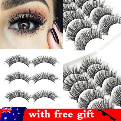 AU6.59 • Buy 20 Pairs 3D Mink Handmade Fake Eyelashes Natural Long Wispy Makeup False Lashes