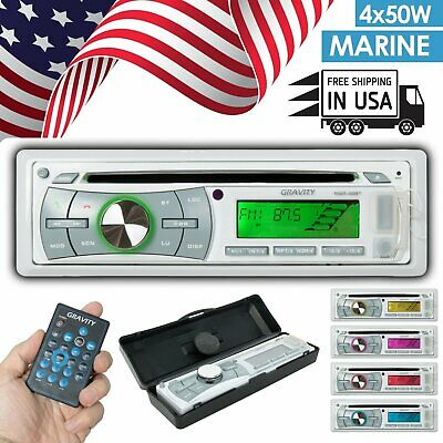 $89.99 • Buy Gravity Marine Boat  CD Player Bluetooth AM FM Receiver W/USB/Android/iPhone