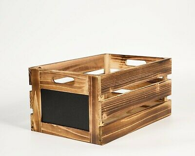 Wooden Crates With Blackboard Retail Display Storage Gift Box • 8.99£