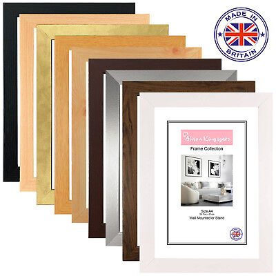 MODERN PICTURE FRAMES POSTER Photo Frame Flat Style WOOD EFFECT A1 A2 A3 A4 A5 • 8.55£