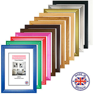 £11.80 • Buy A1 A2 A3 A4 A5 Picture Frames Black White Photo Poster Frame Pink Red Oak Pine