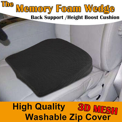£11.59 • Buy MEMORY FOAM WEDGE SEATCar Seat/Chair Cushion Lower Base Posture Support Booster