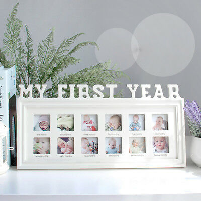 £8.89 • Buy MY FIRST YEAR DIY Baby Growth Photo Frames 12 Months Picture Display Keepsake