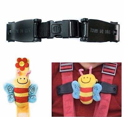 Car Seat Houdini Strap To Stop Anti Escape Child Chest Clip Buggies Highchairs🐝 • 7.99£