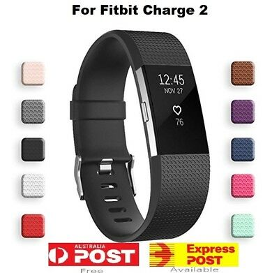 AU4.30 • Buy Fitbit Charge 2 Silicone Band Replacement Wristband Watch Strap Bracelet AUS