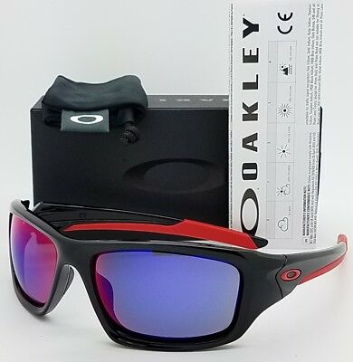 AU132.75 • Buy NEW Oakley Valve Sunglasses Black + Red Iridium 9236-02 Ruby AUTHENTIC Mens Wrap