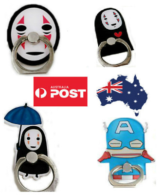 AU8.99 • Buy Phone Finger Ring Holder Pop Stand Grip IPhone Samsung Socket Cat Cartoon Funny