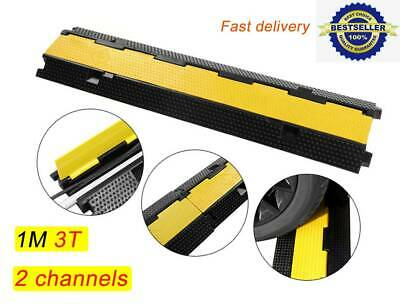 Dual Channel Modular Rubber Guard Cover Cable Protector Hose Ramp Outdoor 1M • 19.06£
